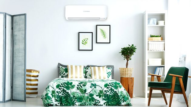 avanti split system air conditioner in modern loungeroom