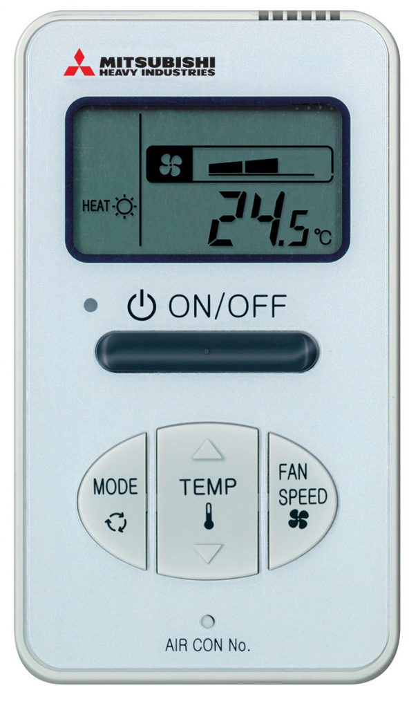 RCH-E3 Wired Remote Control for MHIAA Split system air conditioners, ducted systems, ceiling concealed systems, ceiling cassette systems