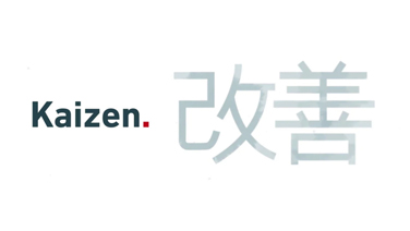 kaizen written in english and japanese