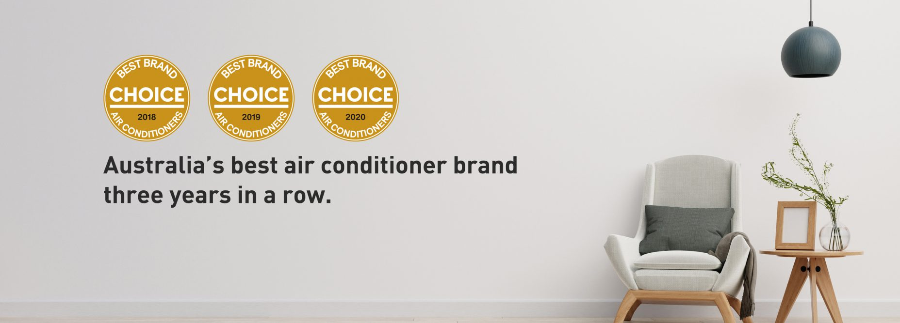 CHOICE best brand of air conditioner 2020 banner image with all three logos