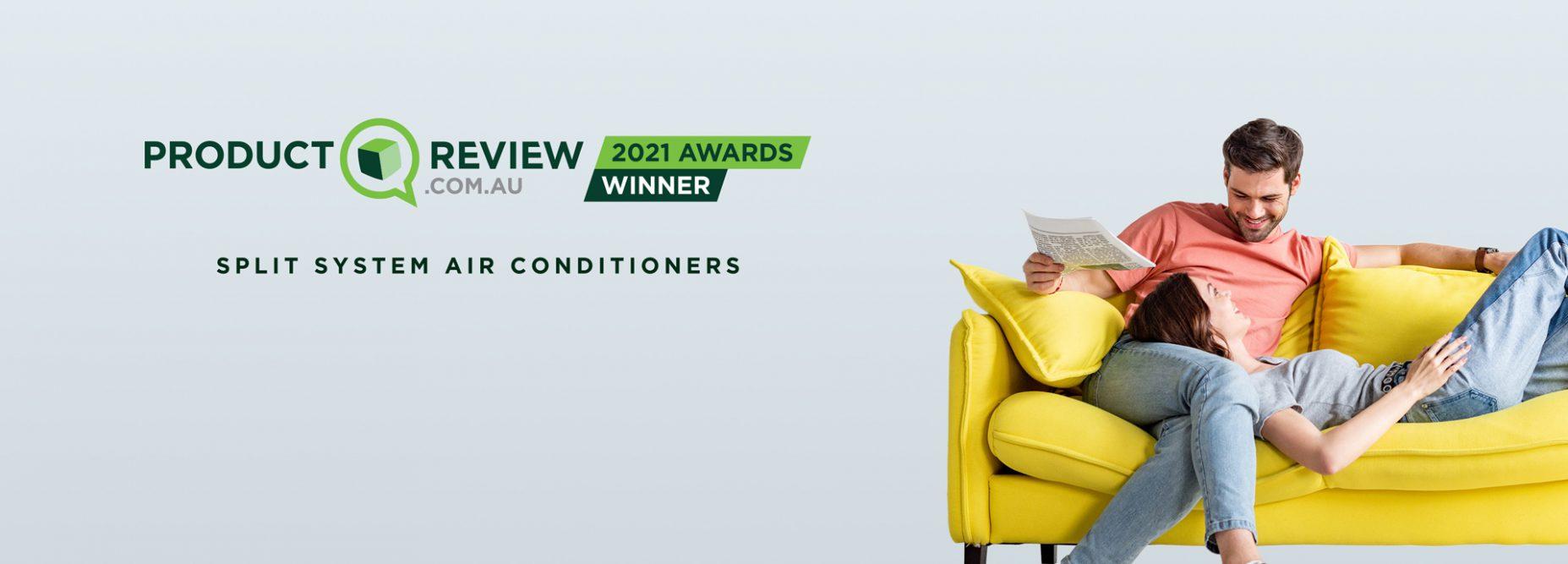 product review awards for split systems banner desktop
