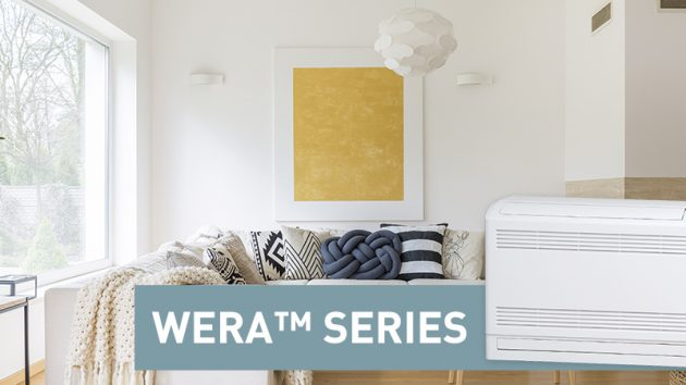 wera series floor standing heat pump in loungeroom