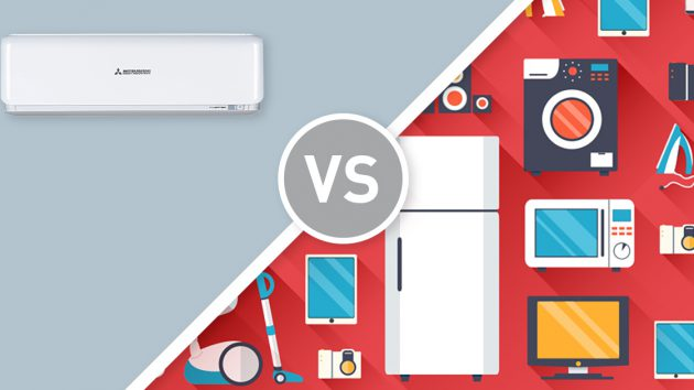 comparing appliance running costs to air conditioner